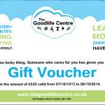 Goodlife Centre Gift Voucher