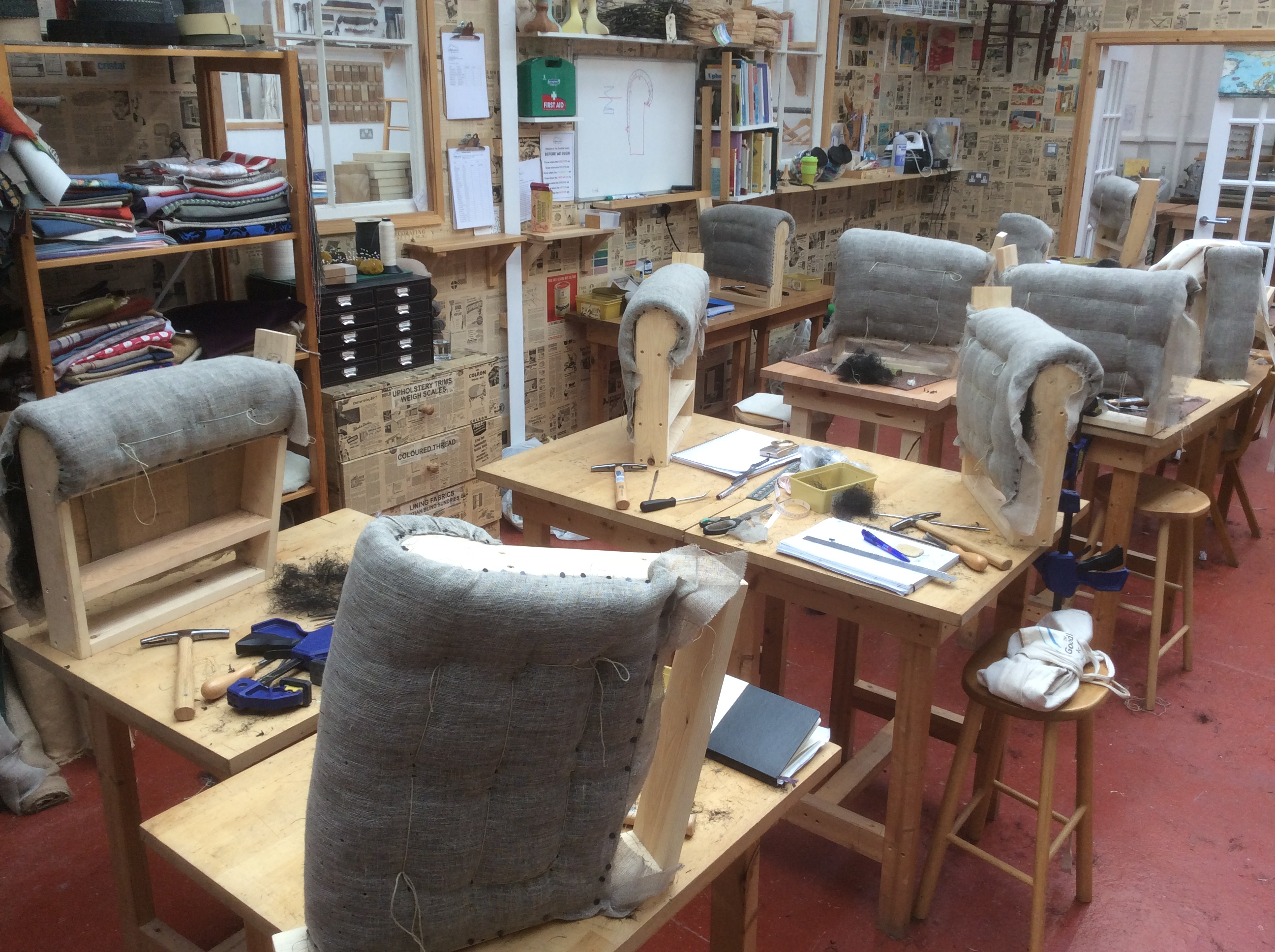 One year upholstery course for Furniture upholstery course