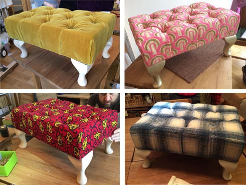 Upholster a Deep Buttoned Footstool