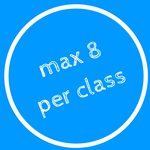 Maximum 8 participants per class