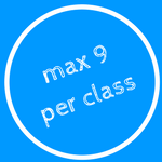 Maximum 9 participants per class